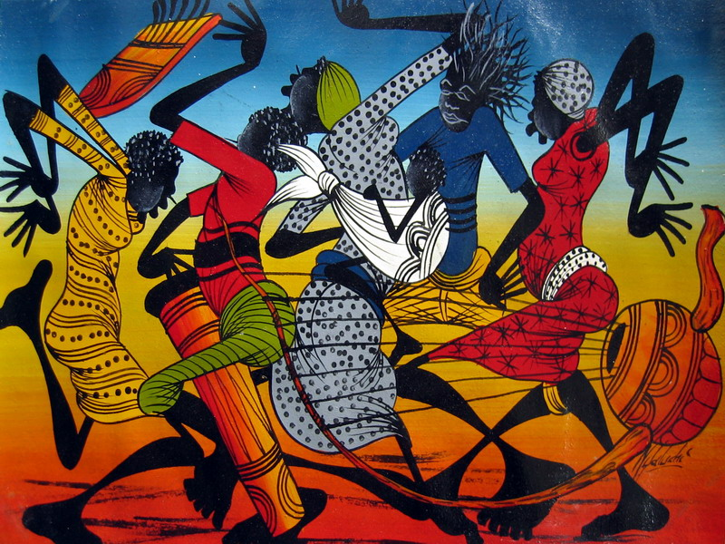 Cuban Dancers Clipart Group - afro-cuban dance