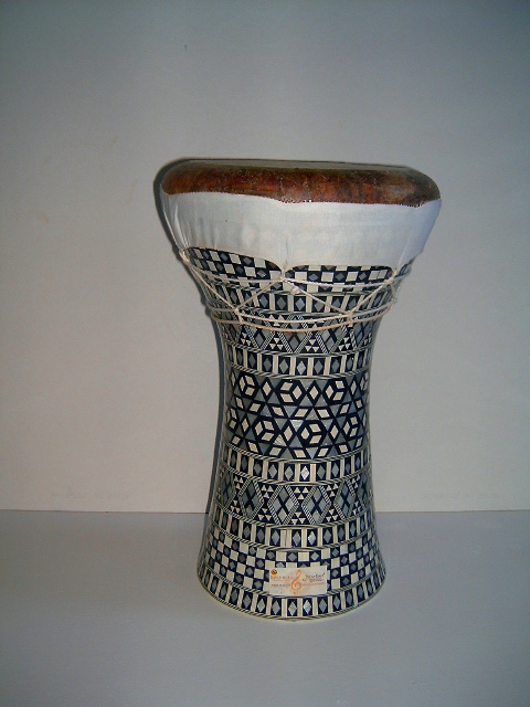 Mother Of Pearl Ceramic Doumbeks With Decorative Finish